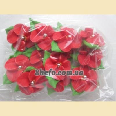 Украшение Цветок с росинкой красный Добрик