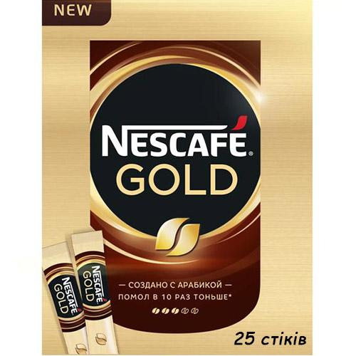 Кофе стик Nescafe Gold 25шт
