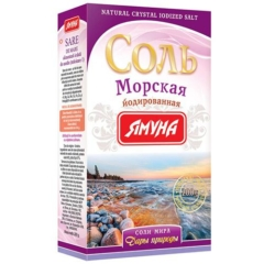 Соль морская йодированная 200г Ямуна